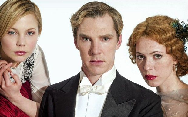 (L-R): Valentine (ADELAIDE CLEMENS), Christopher (BENEDICT CUMBERBATCH), Sylvia (REBECCA HALL)  Parade's End
