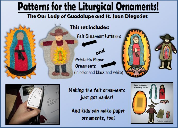 Our lady of guadalupe ornaments the saints pinterest for Our lady of guadalupe arts and crafts