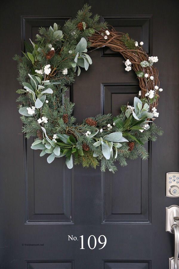 Hot To Make A Rustic Farmhouse Wreath Christmas Decorations Christmas Wreaths Diy Farmhouse Christmas Decor