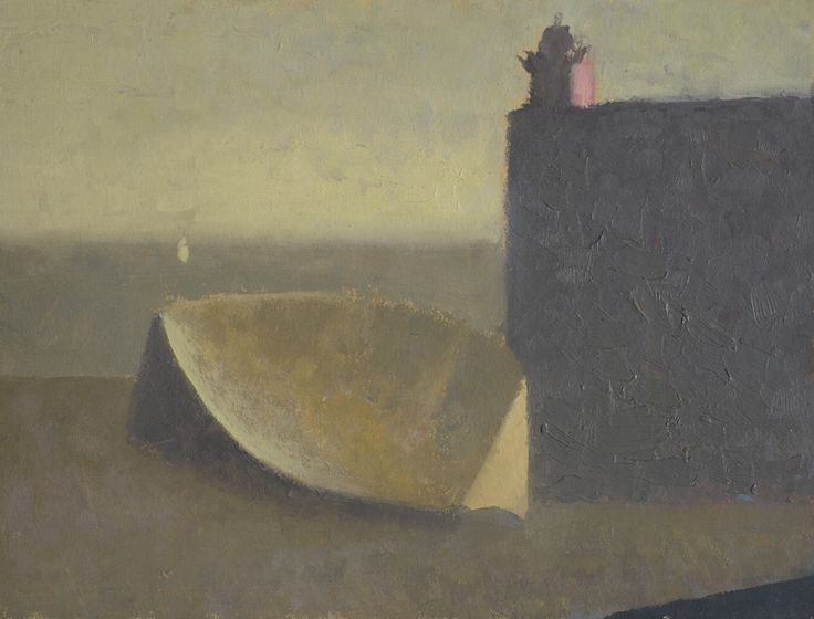 Nicholas Turner 'Red Lighthouse' oil on board