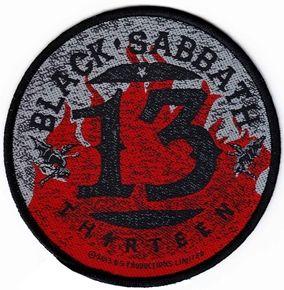 Black Sabbath 13 circular patch from www.HeavyMetalMerchant.com
