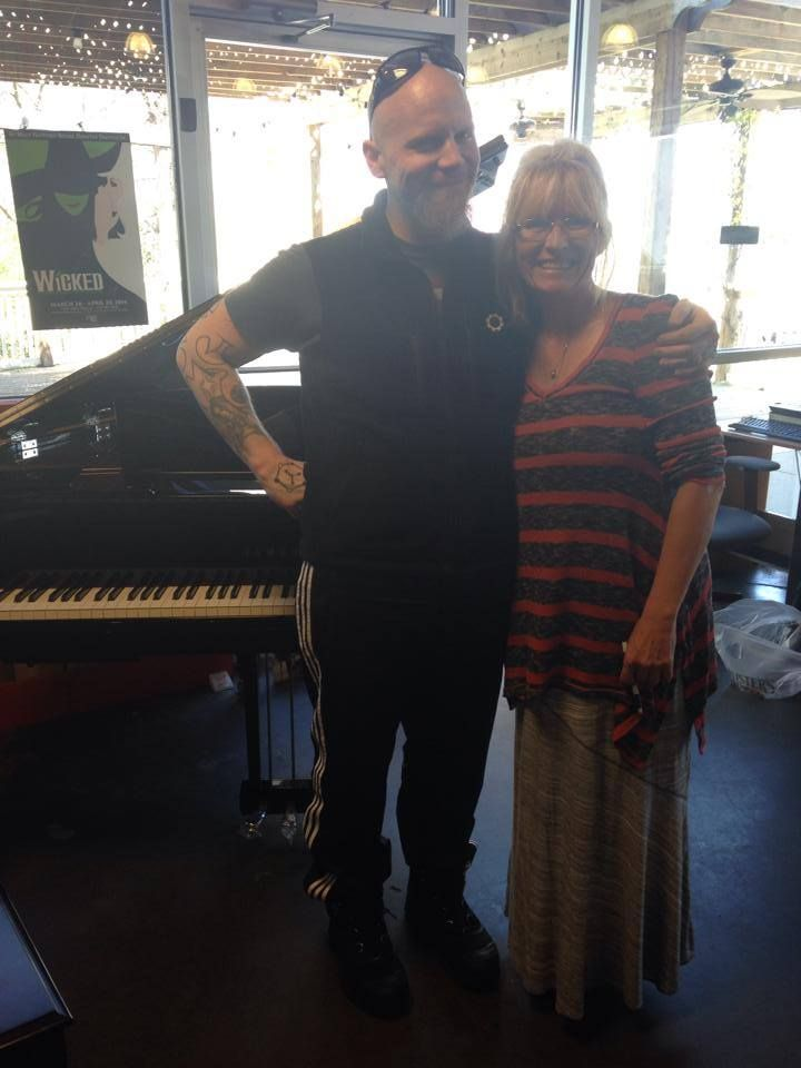 Sherry with former Evanescence Guitarist Ben Moody. Enjoy your new piano!