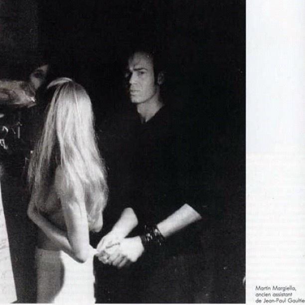 Martin Margiela, asistente de Jean Paul Gaultier. #mmm