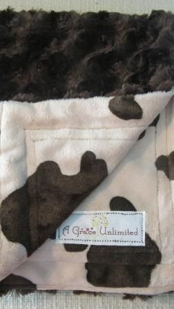 cow print blanket