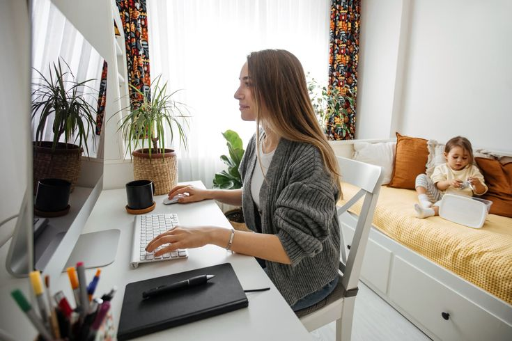 Pin on an entrepreneur working from home