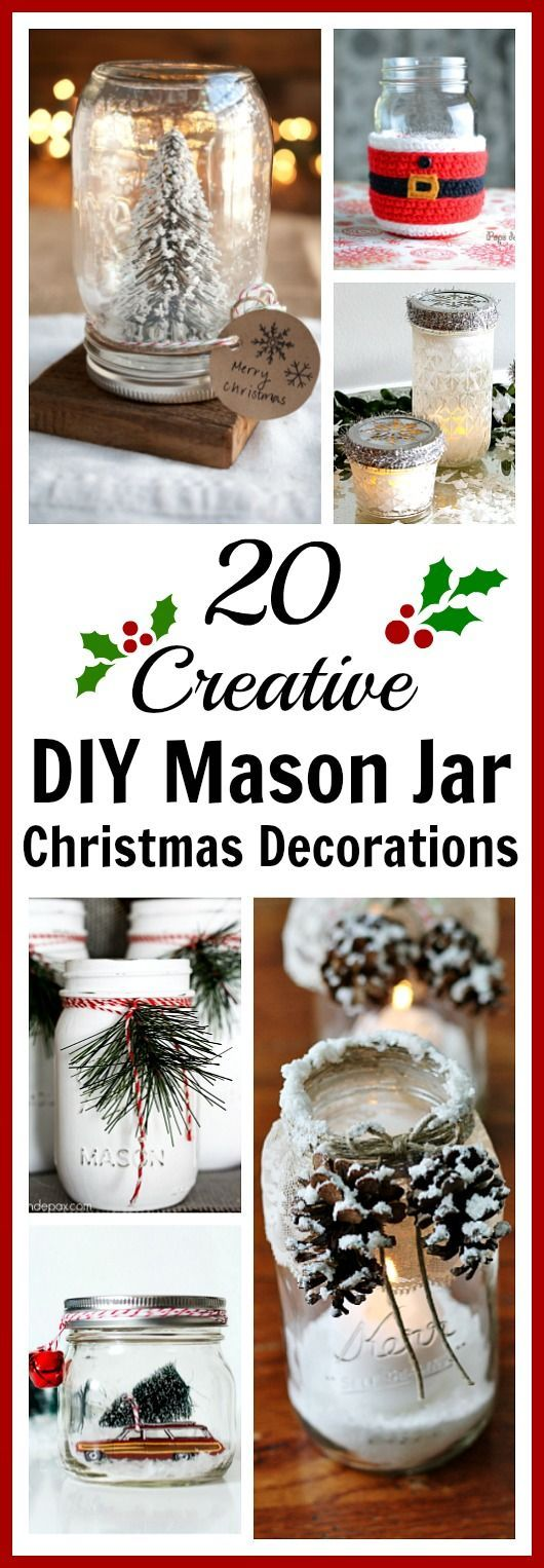 1538 best christmas ideas crafts and decorations images for Diy christmas crafts with mason jars
