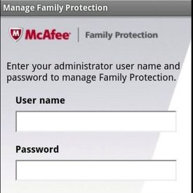 McAfee Family protection android