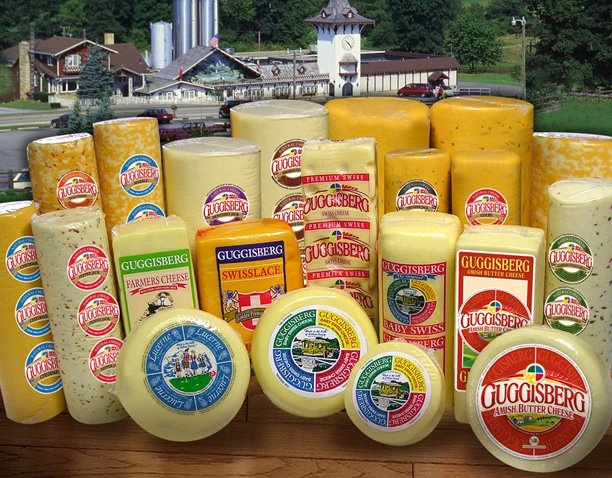 Now THAT is a lot of Guggisberg Cheese! CLICK HERE for more on the Ohio's Amish Country company (and inventor of Baby Swiss) at www.OACountry.com! #Amish #Cheese #ohio #Guggisberg