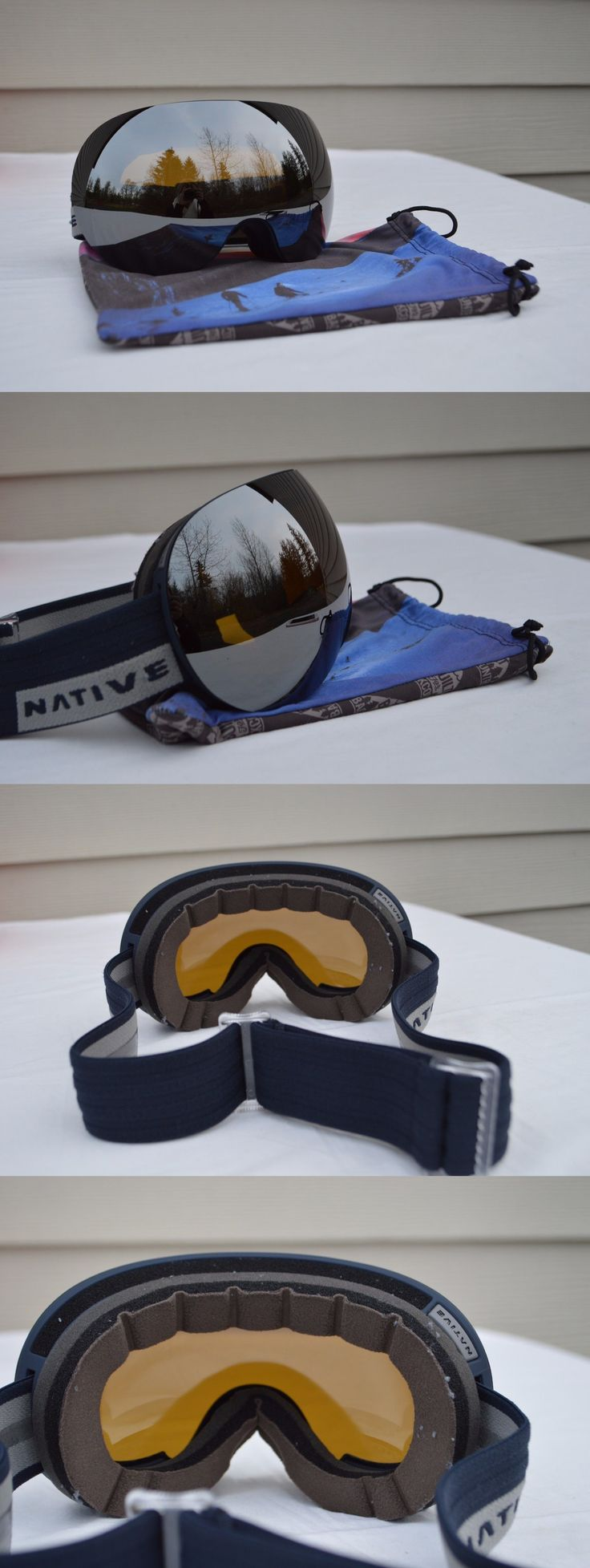 Goggles and Sunglasses 21230: 2017 Nwob Mens Native Snowboard Goggles $180 Adjustable Blue Frame Silver Mirror -> BUY IT NOW ONLY: $126 on eBay!