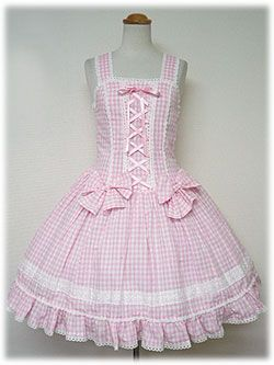 Old school sweet! Angelic Pretty / Jumper Skirt / Bustier Style JSK