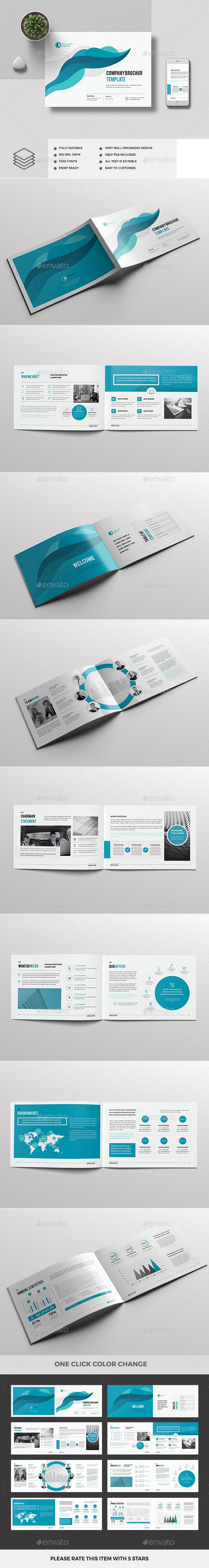 A4 Landscape Company Profile 16 Pages — InDesign INDD #a4 #visual • Download ➝ https://graphicriver.net/item/a4-landscape-company-profile-16-pages/19454168?ref=pxcr