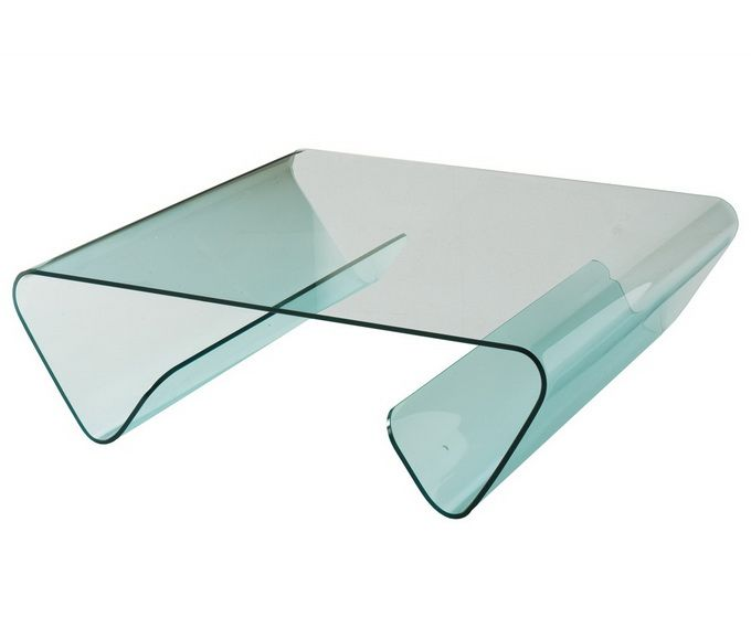 Unique Bent Glass Coffee Table