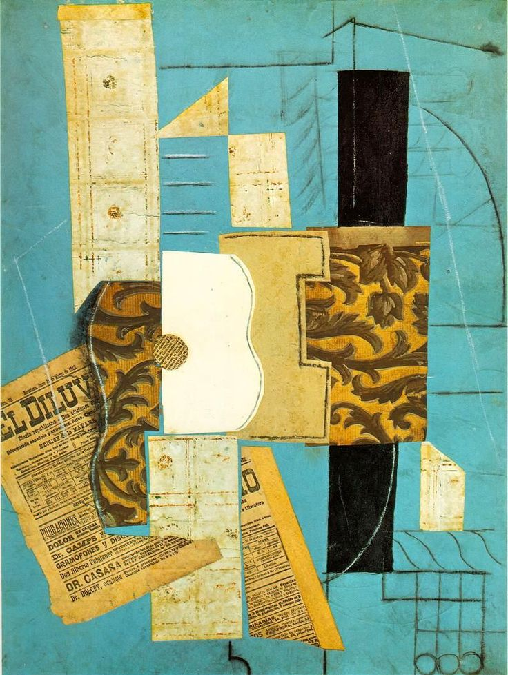 Pablo Picasso - Guitar (1913) collage