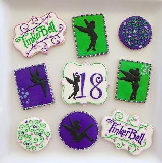 Tinkerbell cookies - Kookie Kreations by Kim
