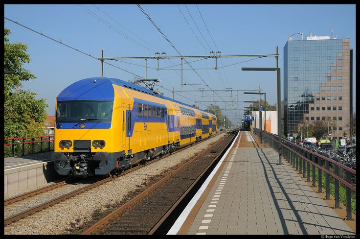Completely refurbished trains Dutch Railways now in service between Amsterdam and The Hague.