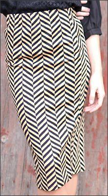 Cream and Black Chevron Pencil Skirt - $19.99 : Mikarose Fashion, Reinventing Modest Fashion