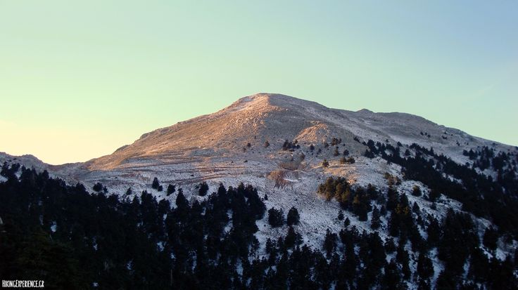 Mount Helicon (1,749 m) at sunset, Central Greece