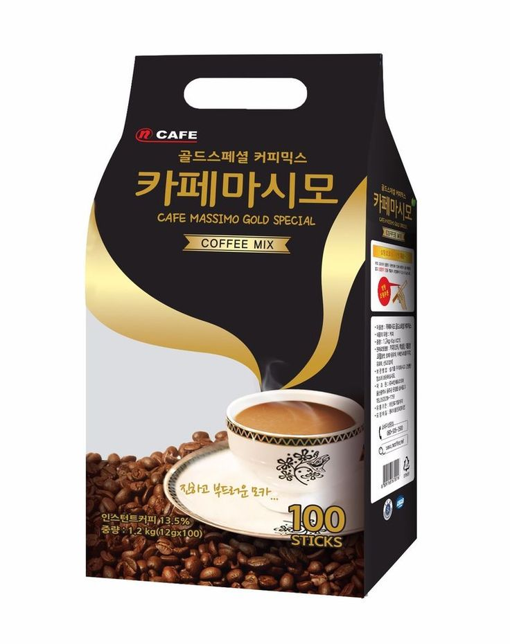 CNF Korea Cafe Massimo Gold Special 100T Coffee Mix Best Quality 12g x 100Sticks #CNFKorea