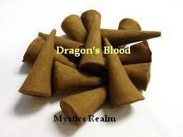 Dragon's Blood Incense Cones ~ 10 per pack