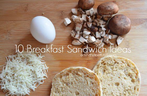 10 Breakfast Sandwich Ideas using the Hamilton Beach Breakfast Sandwich maker via east9thstreetEATS.com #sp