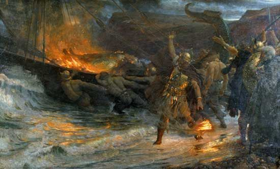 Viking funeral - Frank Dicksee - Wikipedia, the free encyclopedia