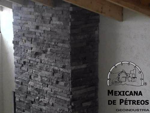 recinto volcnico negro cara de piedra para fachadas