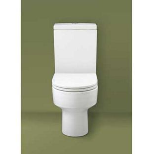 Cuba Close Coupled Toilet - White from Homebase.co.uk