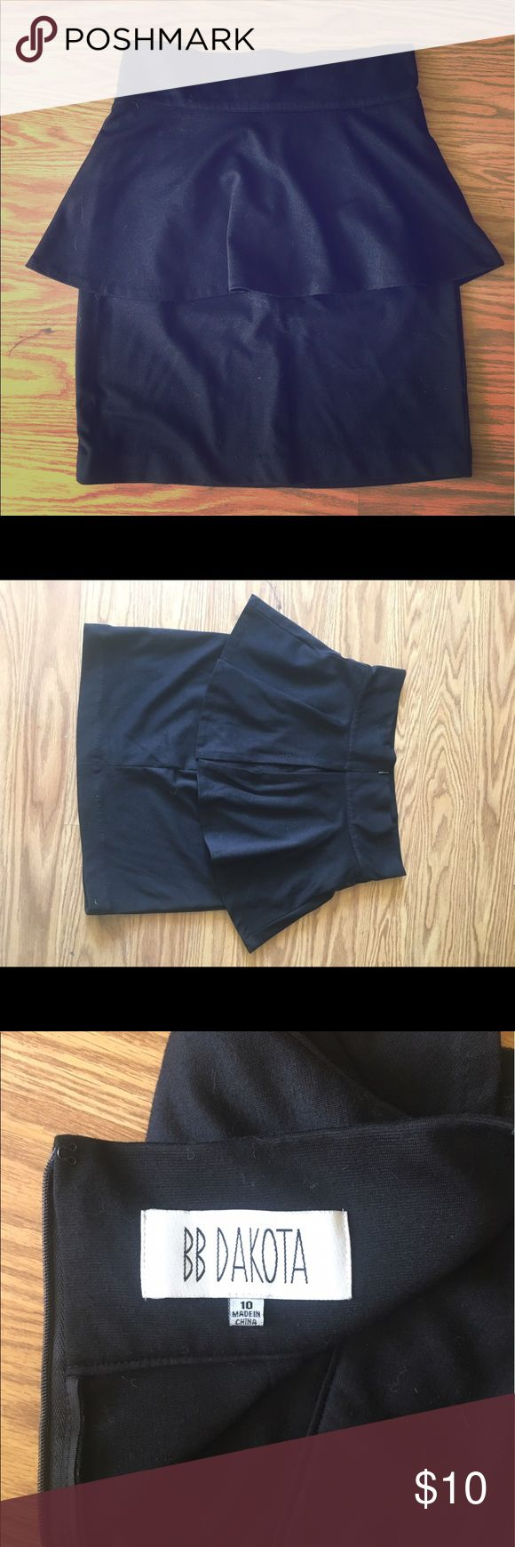 Black Peplum Skirt This is a size 10 black Peplum Skirt in perfect condition. BB Dakota Skirts Pencil