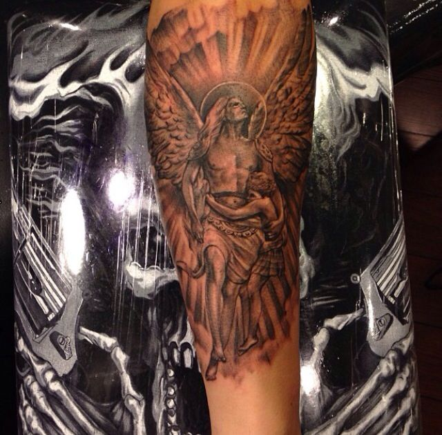 50 best religious tattoo images on pinterest jesus for Badass angel tattoos