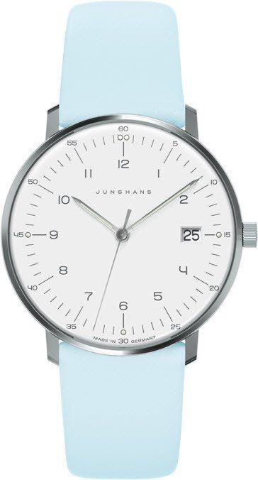 @junghansgermany  Watch Max Bill Ladies Quartz #bezel-fixed #bracelet-strap-leather #brand-junghans #case-depth-6-9mm #case-material-steel #case-width-32-7mm #date-yes #delivery-timescale-7-10-days #dial-colour-silver #gender-ladies #luxury #movement-quar