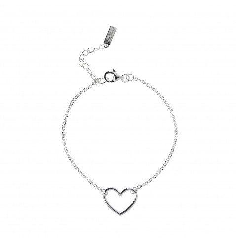 Phil Heart Bracelet in Sterling Silver $114NZD  http://www.agatha.co.nz/agatha-paris-bracelets.html