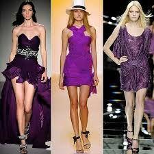 vestido color purpura oscuro - Buscar con Google