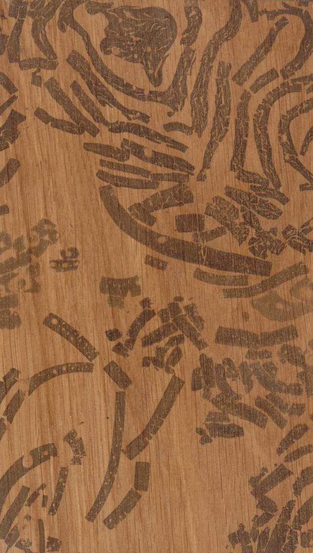 Suminagashi on Wood