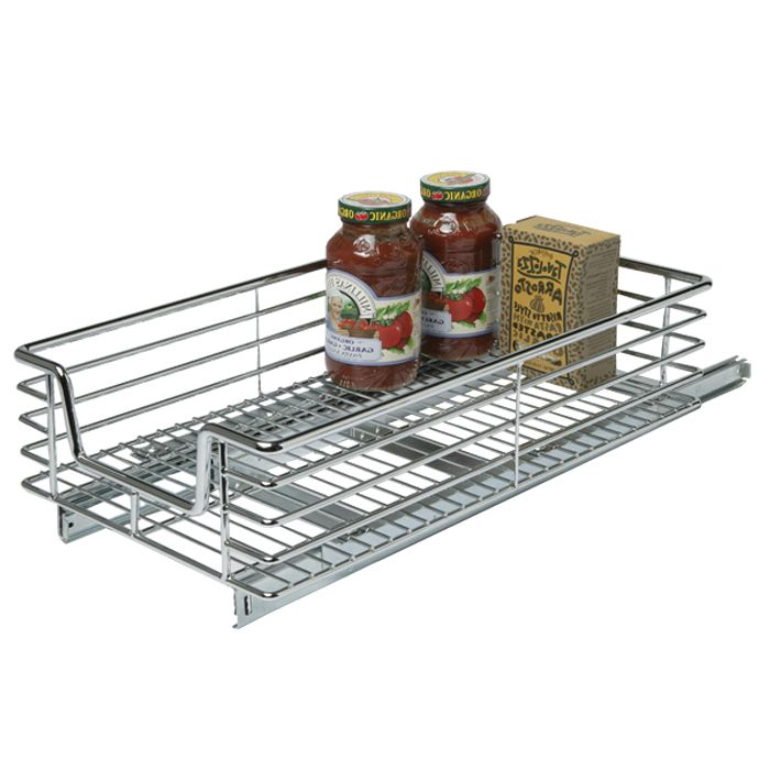 12IN XD SLIDING ORG CHROME - Solutions - Your Organized Living Store