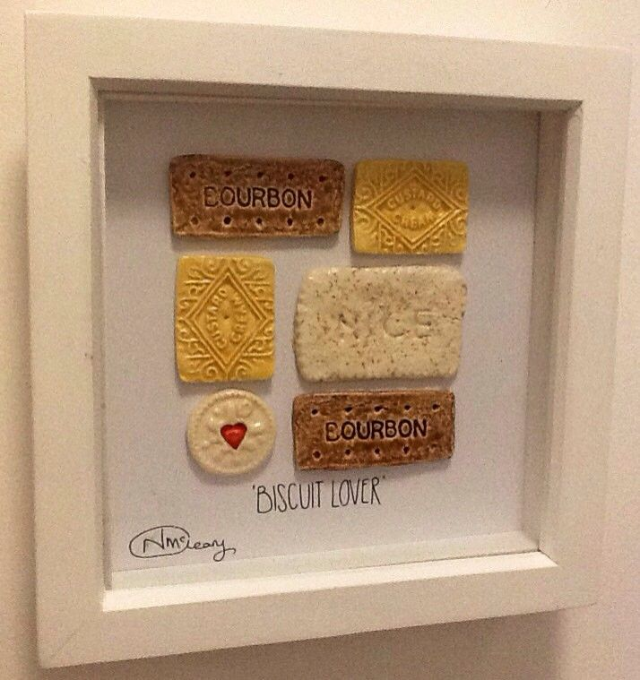 Biscuit Lovers Framed Ceramic Art - Upsydaisy Craft via Handmade Nottingham. Click on the image to see more!