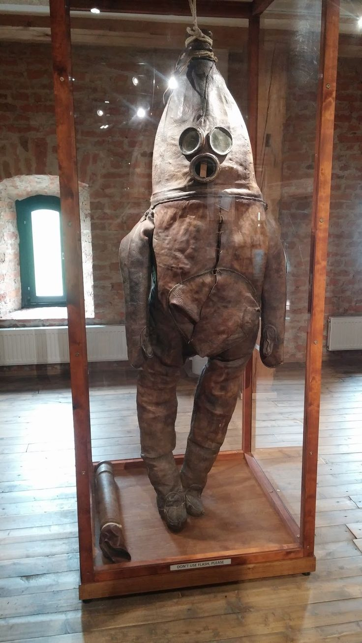 One of the oldest diving suits in existence - called Wanha Herra from early 18th century, Finland