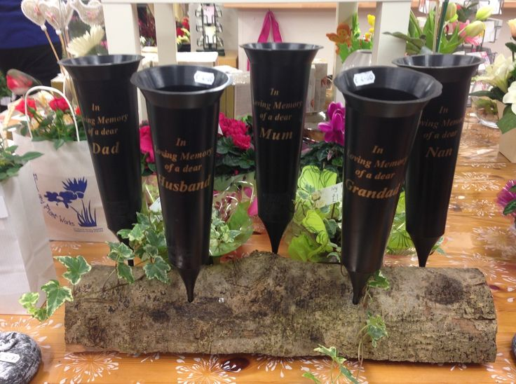 Grave spill pots to fill with flowers just £4 each.
