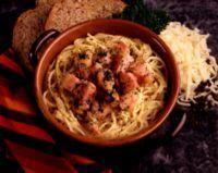 Spaghetti carbonara med fløte -