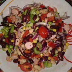 Egy finom Színes babsaláta ebédre vagy vacsorára? Színes babsaláta Receptek a Mindmegette.hu Recept gyűjteményében!