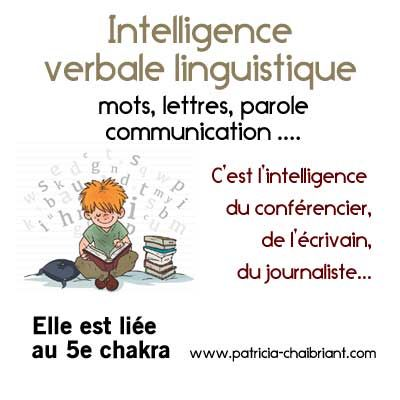 Intelligences multiples : description et usage de l'intelligence verbale linguistique, l'intelligence associée au 5e chakra, le chakra de la gorge.