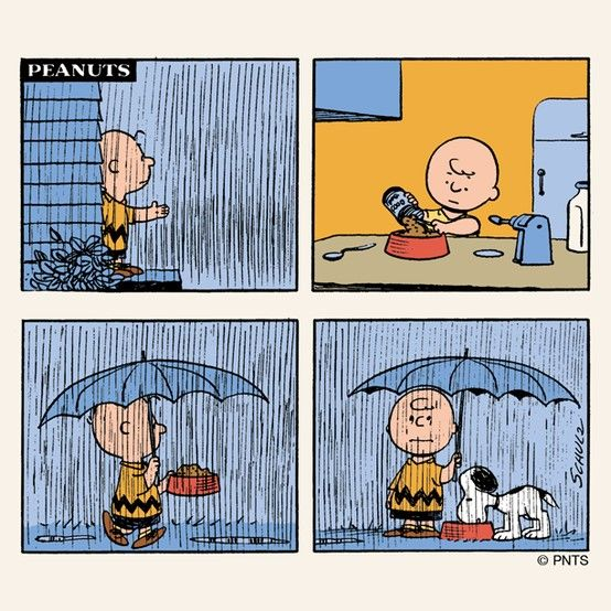 Snoopy and Charlie Brown.