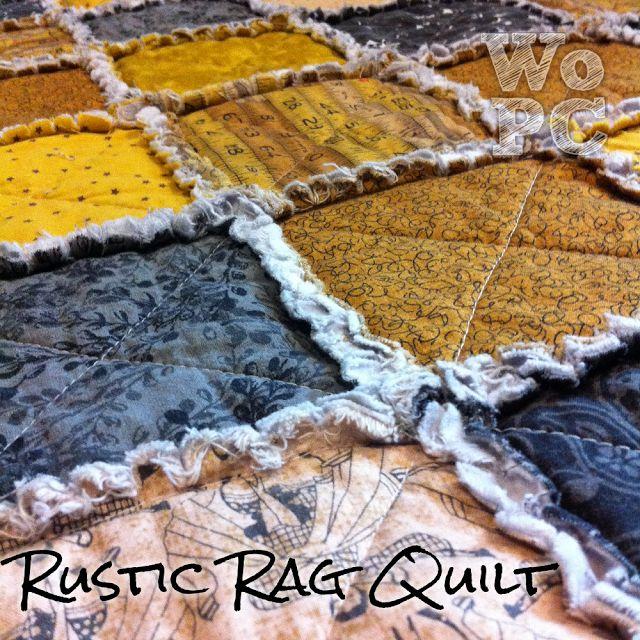 Rag Quilting Tutorial DIY Ideas Pinterest Quilt ...