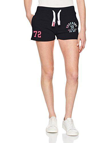 67994037f394a Superdry Damen Sportshorts Track   Field Lite Blau (Eclipse Navy) 42 EU.   apparel  shorts .