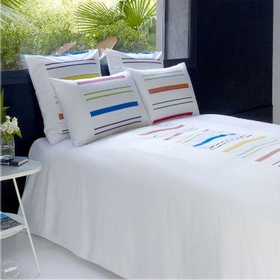 linge de lit jalla costa multico housse de couette drap plat drap housse taie d 39 oreiller. Black Bedroom Furniture Sets. Home Design Ideas