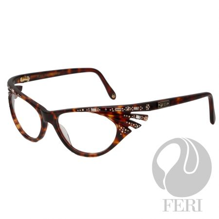 FERI - Tokyo Tortoise Shell - Optical - FERI Optical glasses are manufactured in Italy - Tortoise shell acetate optical glasses - Embellished with baguette stones and iridescent stones - FERI plate on both outer arms - Oblong frame shape - Comes with non-prescription plano lens - Incredibly unique styling with turn heads  *FERI Optical glasses DO NOT come with prescription lenses. Please take the frames to your Optician to have your custom prescription lens installed.*