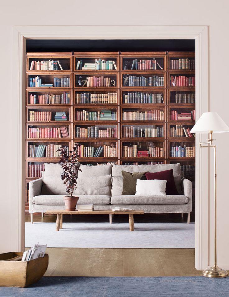 Lena-sohva, Boknäs Classic -kirjahylly.