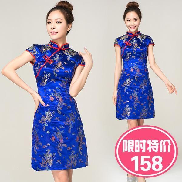 Китайское платье короткое
