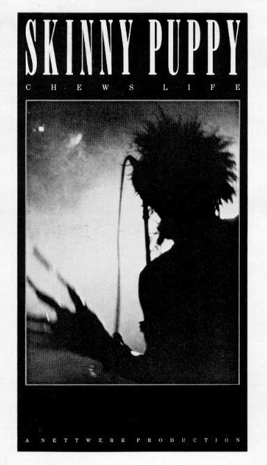 Poster, Chews Life tour, Skinny Puppy, 1986