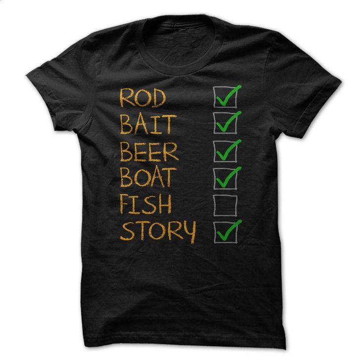 Fishing Checklist Funny Shirt  T Shirt, Hoodie, Sweatshirts - teeshirt dress #Tshirt #clothing