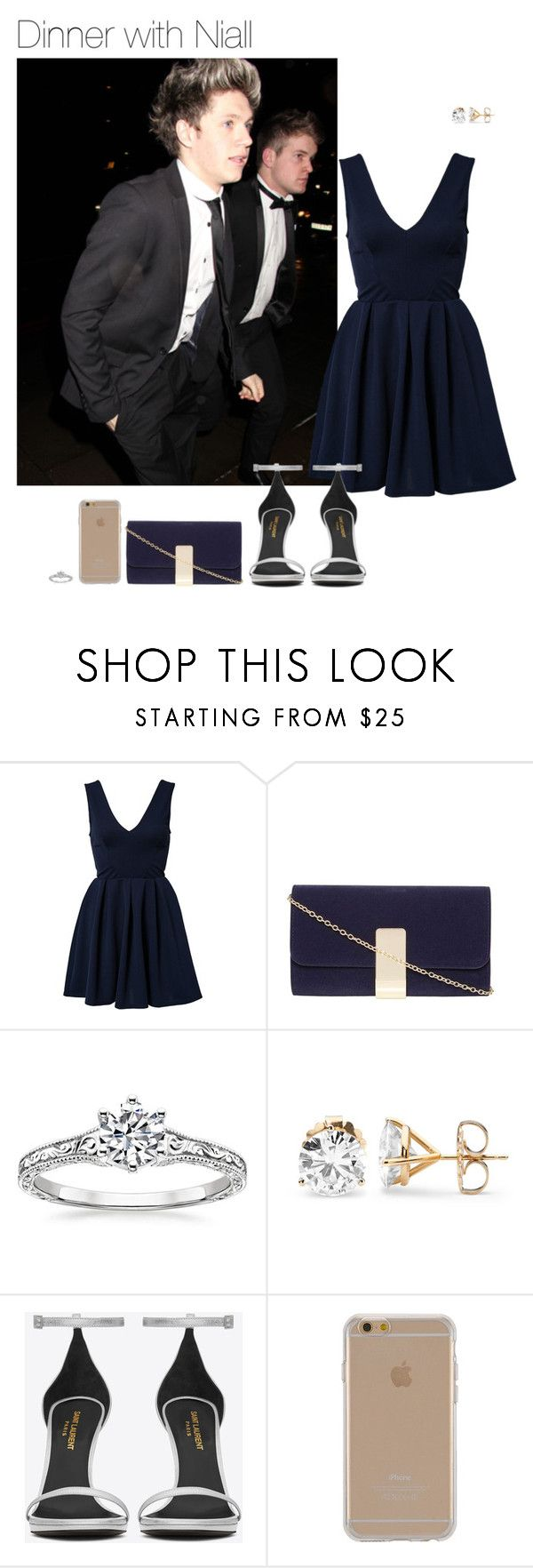 """Dinner with Niall"" by leftsouls ❤ liked on Polyvore featuring TFNC, Dorothy Perkins, Yves Saint Laurent and Agent 18"
